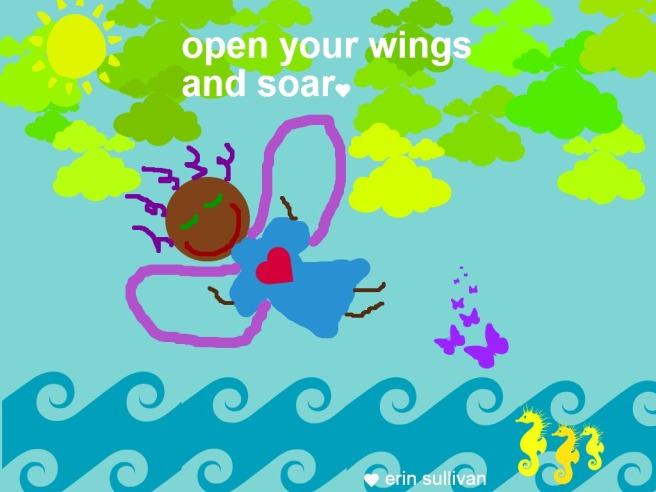 open wings